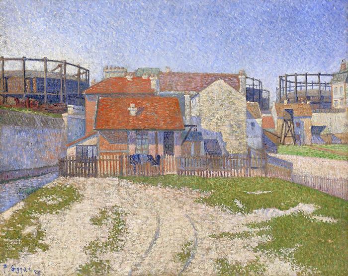 Gáztárolók Clichy-nél (1886), Paul Signac